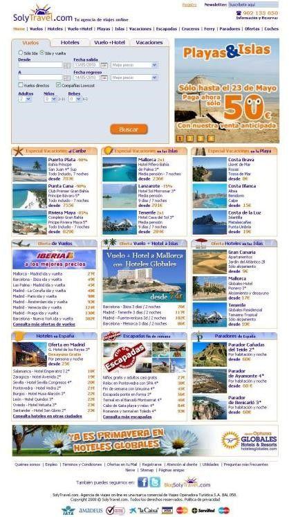 agencia de viajes online solytravel
