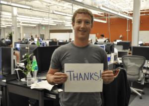 facebook thanks