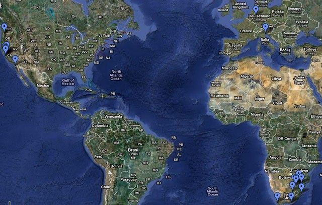 google aerial places