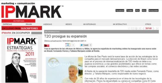 T2O media abre nueva oficina en Brasil - IPMARK