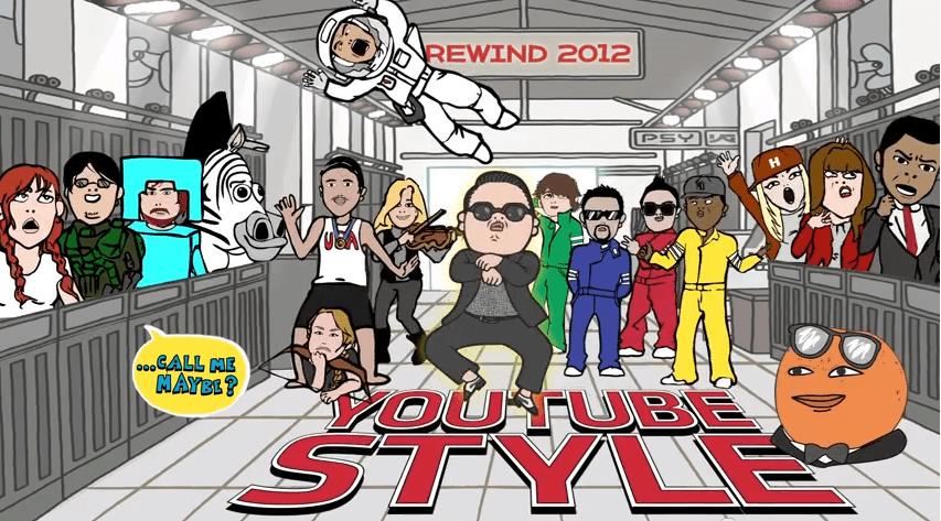 Youtube Rewind. videos más vistos del 2012