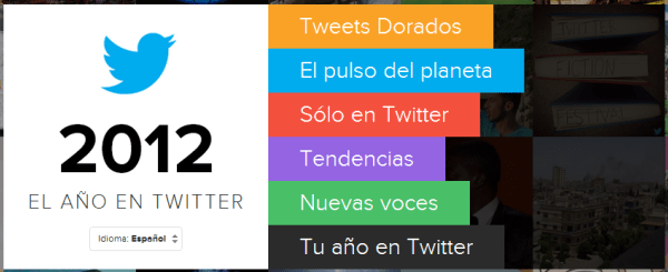 Resumen de Twitter en 2012