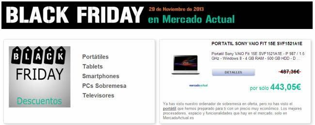 black friday cyber monday comprar online mercado actual