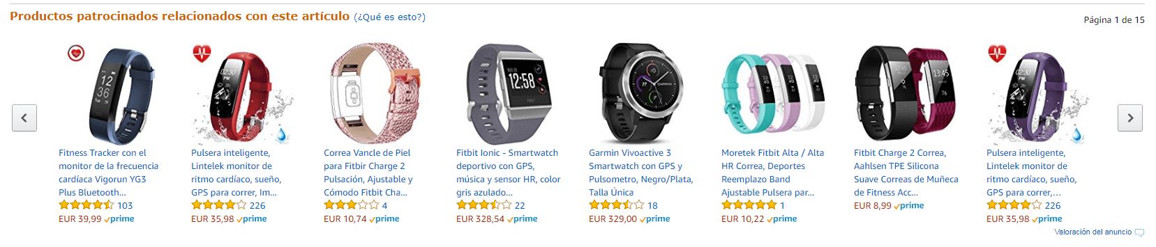 Productos relacionados Amazon