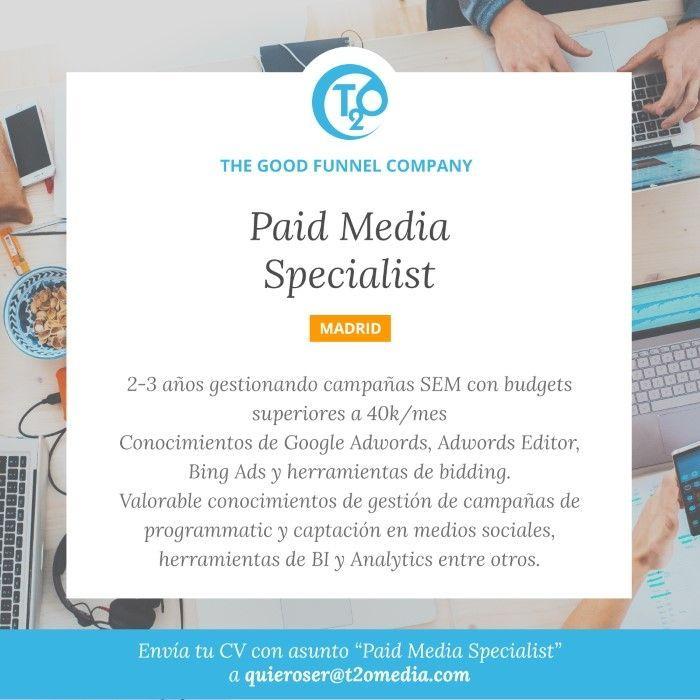 oferta paid media specialist