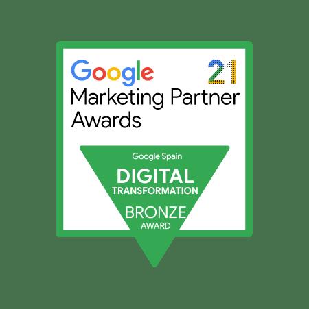 Google Marketing Partner Award t2ó premio bronce